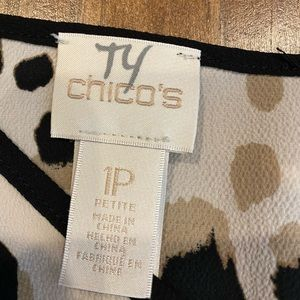 Chico's Tops - CHICOS ANIMAL PRINT LONG SLEEVE V NECK BLOUSE